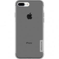 Чехол накладка для Apple iPhone 7 Plus Nillkin Nature TPU Case Серый