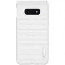 Чехол накладка для Samsung Galaxy S10e Nillkin Super Frosted Shield Белый