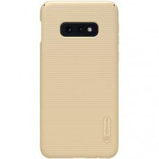 Чехол накладка для Samsung Galaxy S10e Nillkin Super Frosted Shield Золотой