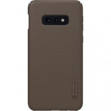Чехол накладка для Samsung Galaxy S10e Nillkin Super Frosted Shield Коричневый