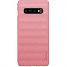 Чехол накладка для Samsung Galaxy S10+ Nillkin Super Frosted Shield Розовый