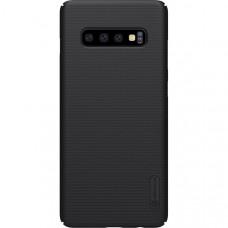 Чехол накладка для Samsung Galaxy S10+ Nillkin Super Frosted Shield Черный