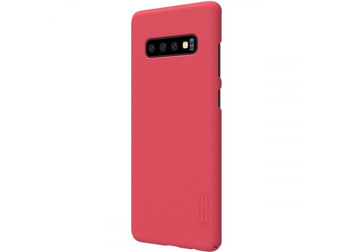 Чехол накладка для Samsung Galaxy S10+ Nillkin Super Frosted Shield Красный
