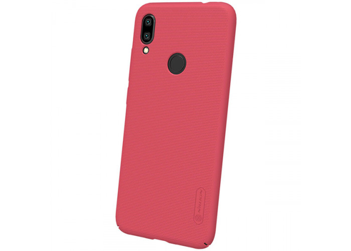 Чехол накладка для Xiaomi Redmi Note 7 Nillkin Super Frosted Shield Красный