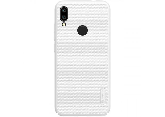 Чехол накладка для Xiaomi Redmi Note 7 Nillkin Super Frosted Shield Белый