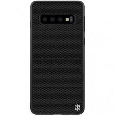 Чехол накладка для Samsung Galaxy S10+ Nillkin Textured Case Черный