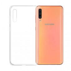Силиконовый чехол для Samsung Galaxy A70 DF sCase-78 Прозрачный