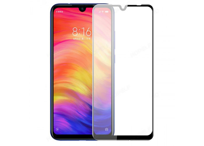 Защитное стекло для Xiaomi Redmi Note 7 Glass Glue Черное