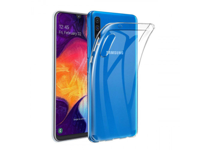Силиконовый чехол для Samsung Galaxy A50 Skinbox Slim Silicone Dustproof 4People Прозрачный