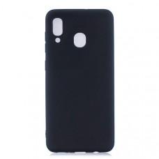 Силиконовый чехол для Samsung Galaxy M20 Cherry Черный