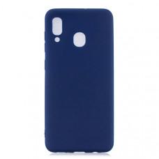 Силиконовый чехол для Samsung Galaxy M20 Cherry Синий
