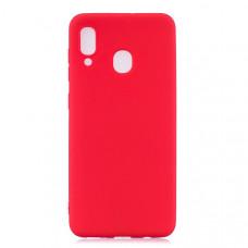 Силиконовый чехол для Samsung Galaxy M20 Cherry Красный