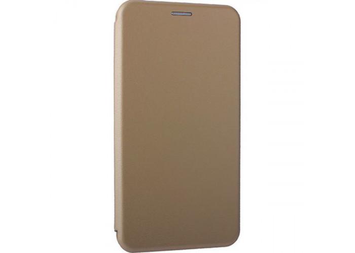 Чехол книжка для Samsung Galaxy A60 Fashion Case 3D Золотой