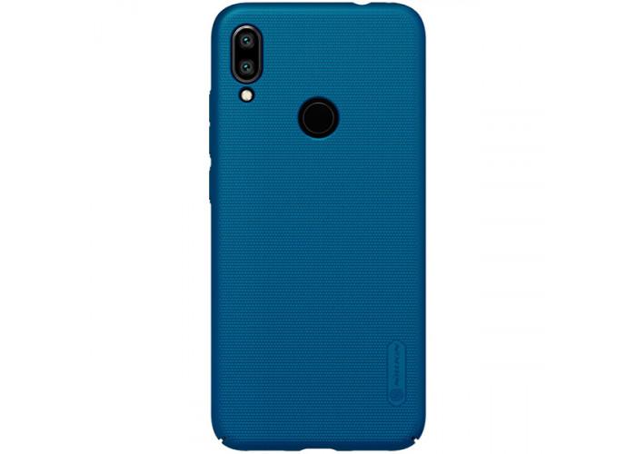 Чехол накладка для Xiaomi Redmi Note 7 Nillkin Super Frosted Shield Синий