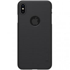 Чехол накладка для Apple iPhone XS Max Nillkin Super Frosted Shield с отверстием Черный