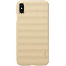 Чехол накладка для Apple iPhone XS Max Nillkin Super Frosted Shield Золотой