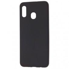 Силиконовый чехол для Samsung Galaxy M30 TPU 1мм Черный матовый
