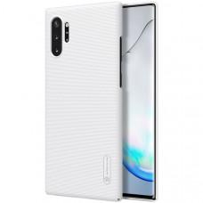 Чехол накладка для Samsung Galaxy Note 10+ Nillkin Super Frosted Shield Белый