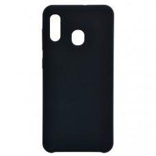 Чехол накладка для Samsung Galaxy A30 CasePro Liquid case Черный