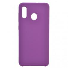 Чехол накладка для Samsung Galaxy A30 CasePro Liquid case Фиолетовый