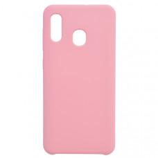 Чехол накладка для Samsung Galaxy A30 CasePro Liquid case Розовый