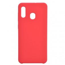 Чехол накладка для Samsung Galaxy A30 CasePro Liquid case Красный