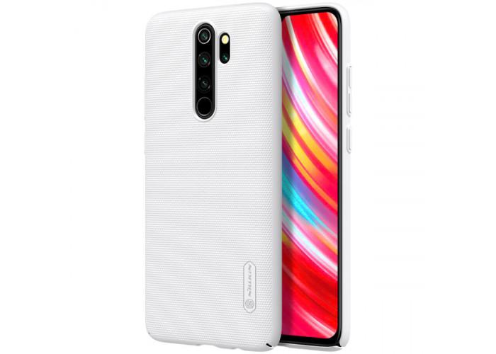 Чехол накладка для Xiaomi Redmi Note 8 Pro Nillkin Super Frosted Shield Белый