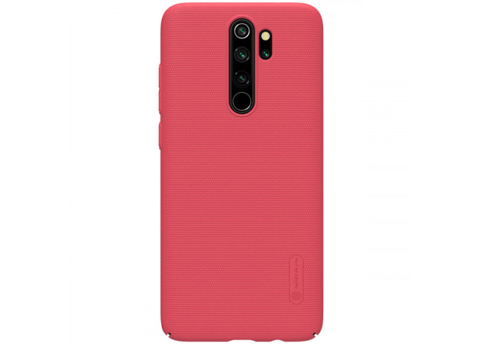 Чехол накладка для Xiaomi Redmi Note 8 Pro Nillkin Super Frosted Shield Красный