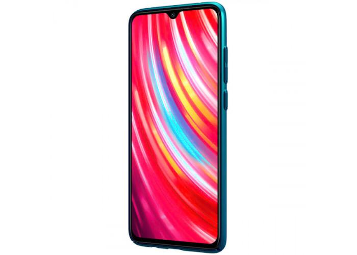 Чехол накладка для Xiaomi Redmi Note 8 Pro Nillkin Super Frosted Shield Синий