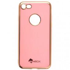 Чехол накладка для Apple iPhone 8 Skinbox Slim silicone color Розовый