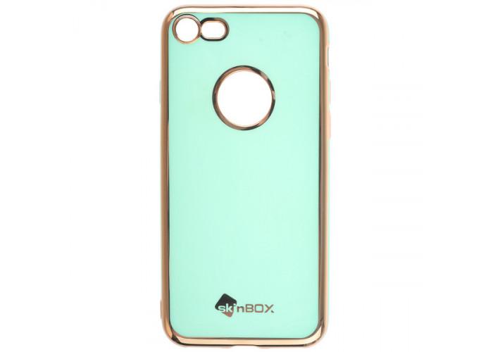 Чехол накладка для Apple iPhone 8 Skinbox Slim silicone color Зеленый