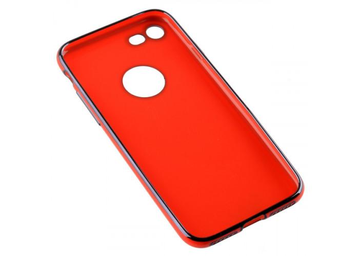 Чехол накладка для Apple iPhone 8 Skinbox Slim silicone color Красный