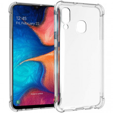 Силиконовый чехол для Samsung Galaxy A40 TPU Противоударный 1.5мм Прозрачный глянцевый