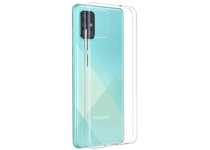 Силиконовый чехол для Samsung Galaxy A51 DF sCase-85 Прозрачный