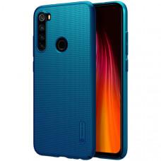 Чехол накладка для Xiaomi Redmi Note 8 Nillkin Super Frosted Shield Синий