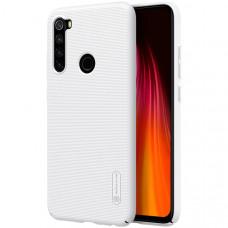 Чехол накладка для Xiaomi Redmi Note 8 Nillkin Super Frosted Shield Белый