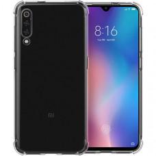 Силиконовый чехол для Xiaomi Mi9 SE TPU Противоударный 1мм Прозрачный глянцевый