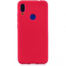 Силиконовый чехол для Xiaomi Mi Play TPU 1мм Красный матовый
