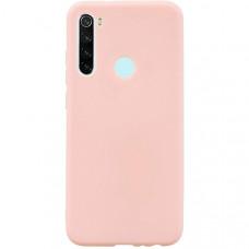 Силиконовый чехол для Xiaomi Redmi Note 8T TPU 1мм Розовый матовый