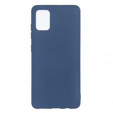 Силиконовый чехол для Samsung Galaxy S10 Lite TPU 1мм Синий матовый