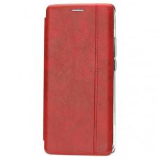 Чехол книжка для Xiaomi Redmi Note 8 Pro Fashion Case Retro Line Красный