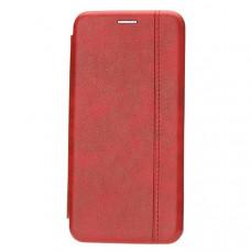 Чехол книжка для Xiaomi Redmi Note 8 Fashion Case Retro Line Красный