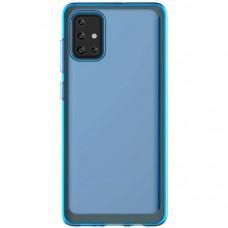 Силиконовый чехол для Samsung Galaxy A71 Araree GP-FPA715KDALR Синий