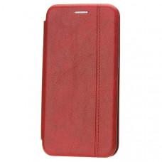 Чехол книжка для Xiaomi Redmi Note 7 Fashion Case Retro Line Красный