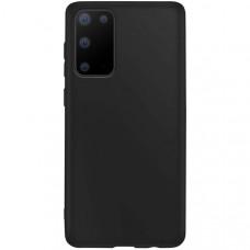Силиконовый чехол для Samsung Galaxy S20 TPU 1мм Черный матовый