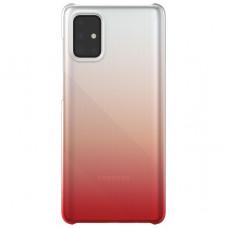 Чехол накладка для Samsung Galaxy A71 Wits Gradation GP-FPA715WSBRR Красный