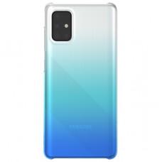 Чехол накладка для Samsung Galaxy A71 Wits Gradation GP-FPA715WSBLR Синий