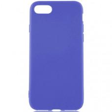 Силиконовый чехол для Apple iPhone 7 Plus TPU 1мм Синий матовый