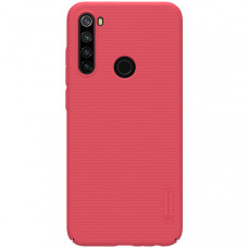 Чехол накладка для Xiaomi Redmi Note 8T Nillkin Super Frosted Shield Красный
