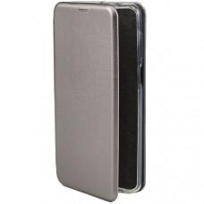 Чехол книжка для Xiaomi Redmi Note 9 Fashion Case Серый